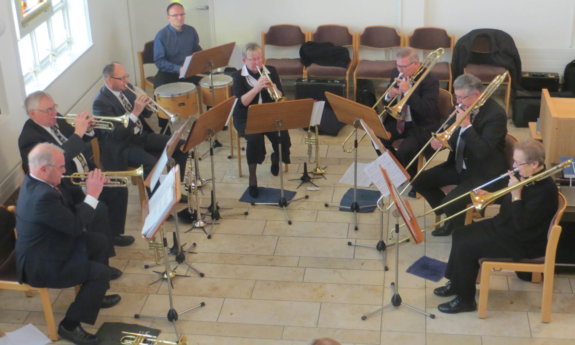 Die Zofinger Turmbläser bei ihrem Auftritt in der Kirche Ruhbank