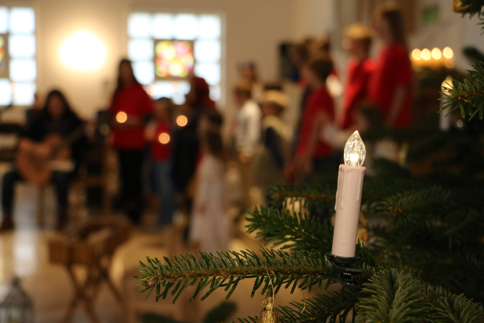 Weihnachtsspiel in der Kirche Ruhbank.