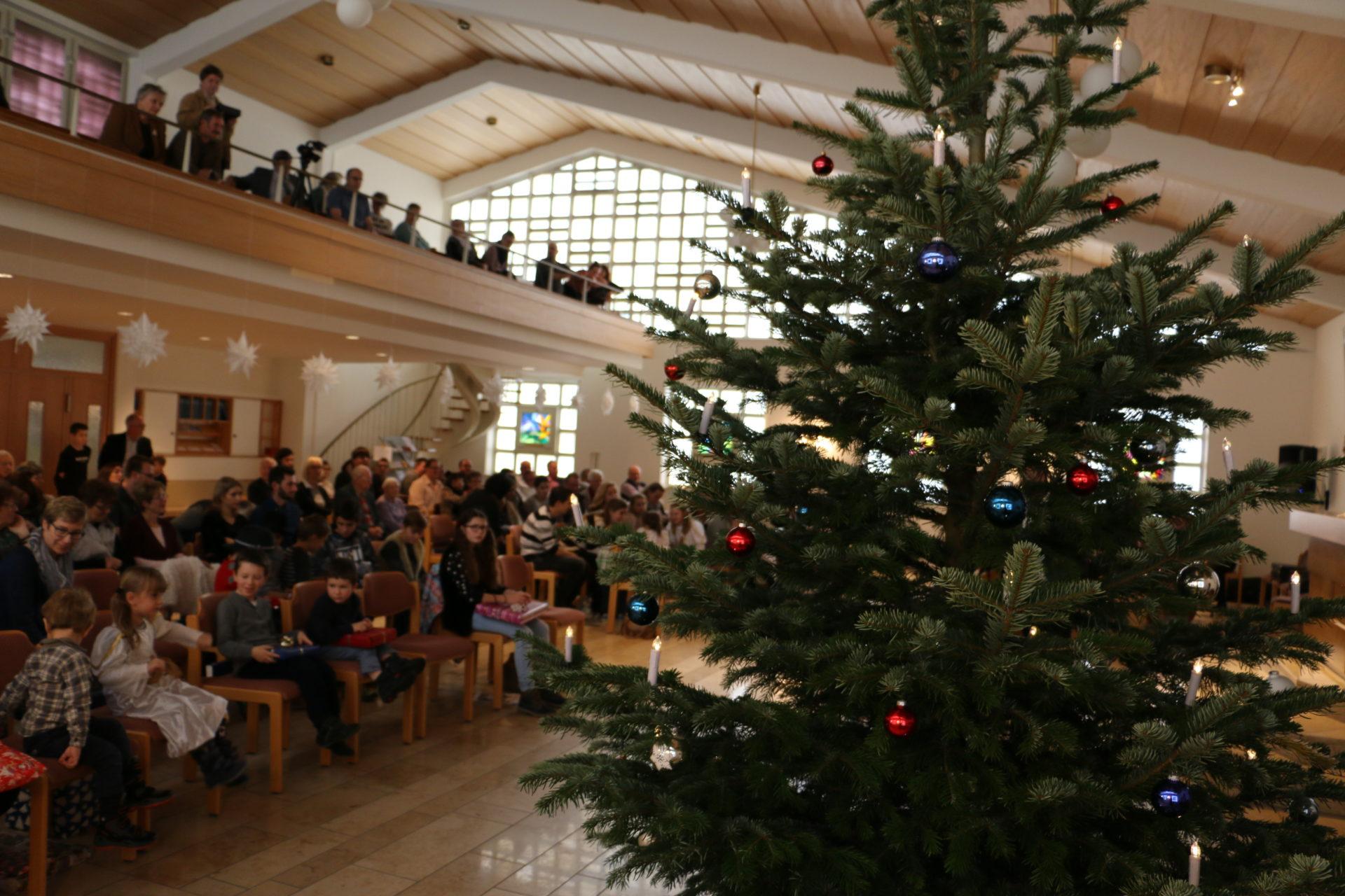 Christbaum in der Kirche Ruhbank