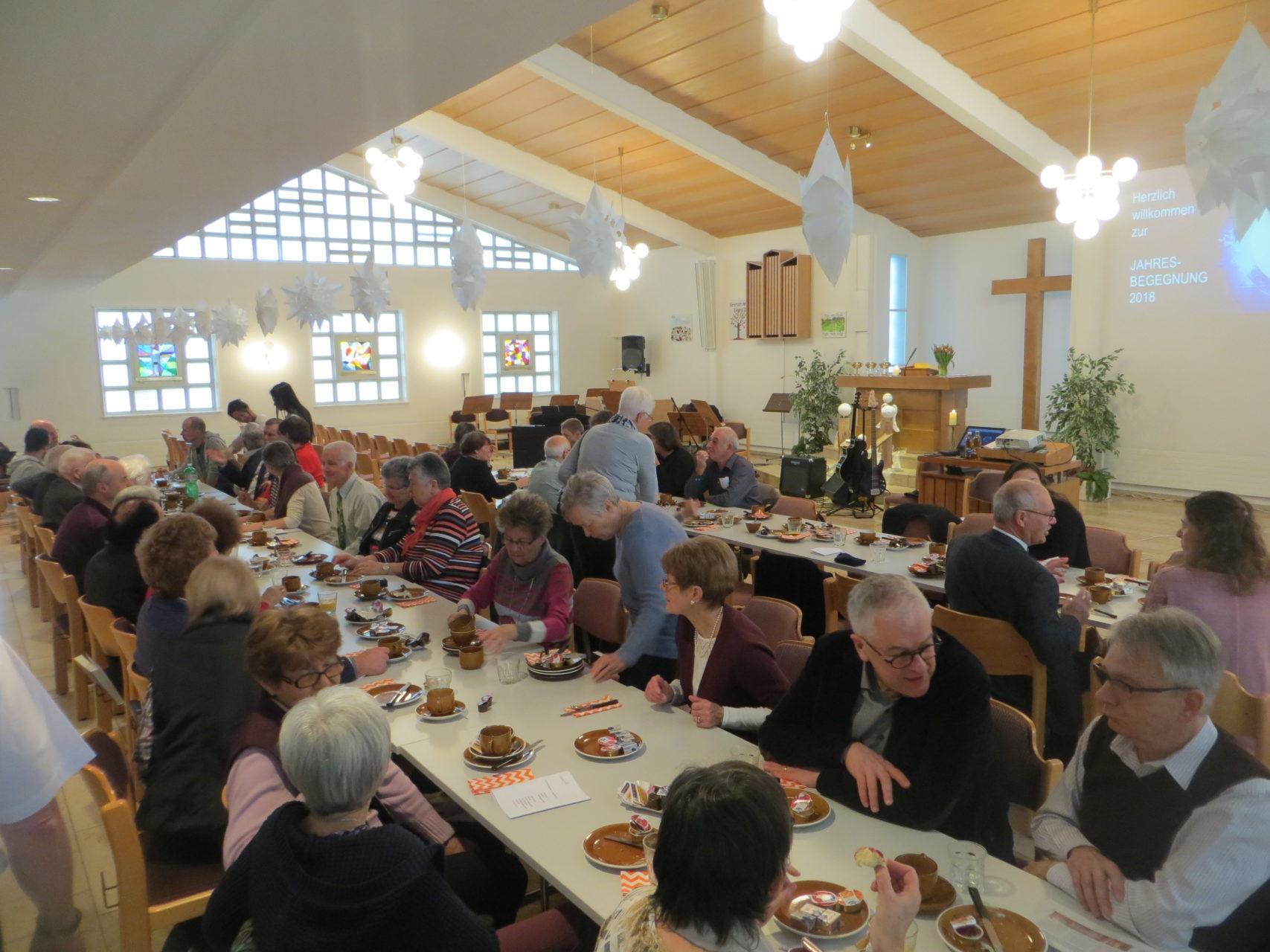Frühstück in der Kirche Ruhbank