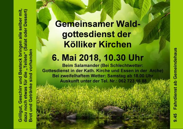 Waldgottesdienst der Kölliker Kirchen