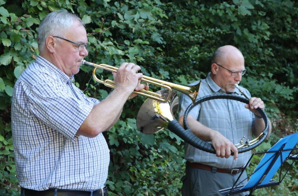 Trompete und Waldhorn
