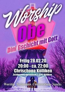 ComeInn / Lobpreisabend in der Chrischona Gemeinde Kölliken